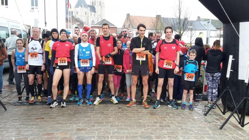 Santa Run- Kerstcorrida in Zoutleeuw. Zondag 13 december 2015
