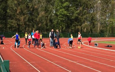 Zondag 14 April 2019 Olimpic jeugdmeeting in Pelt.