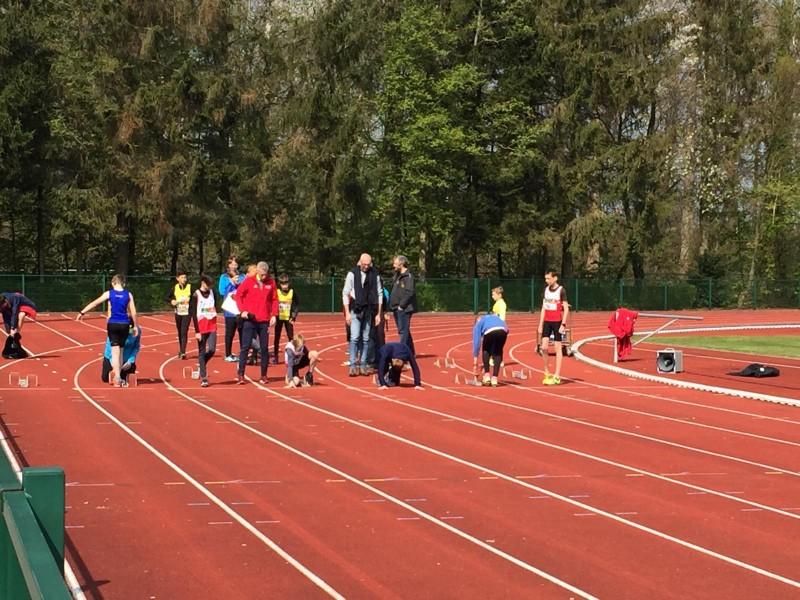 Zondag 14 April 2019 Olimpic jeugdmeeting in Pelt.